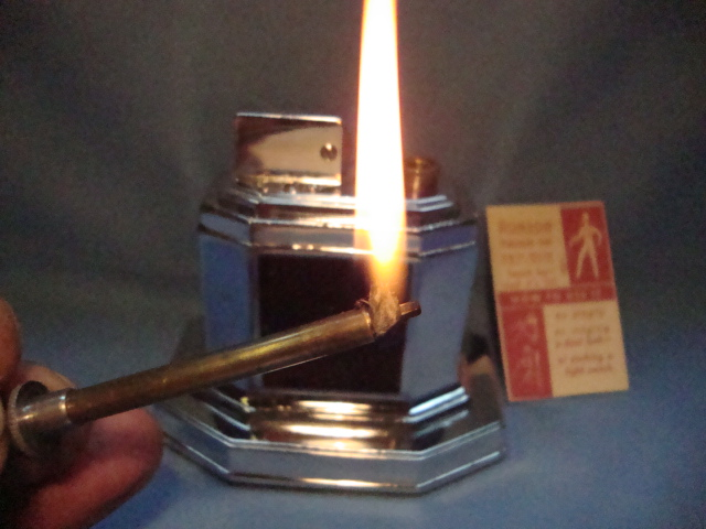 Refurbished antique table lighters