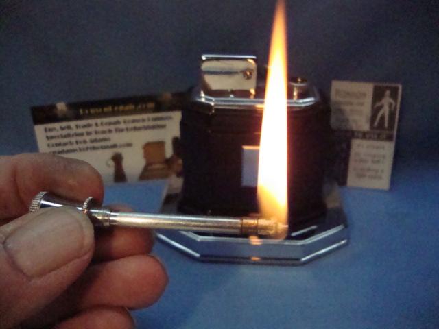 Fully refurbished vintage table lighter